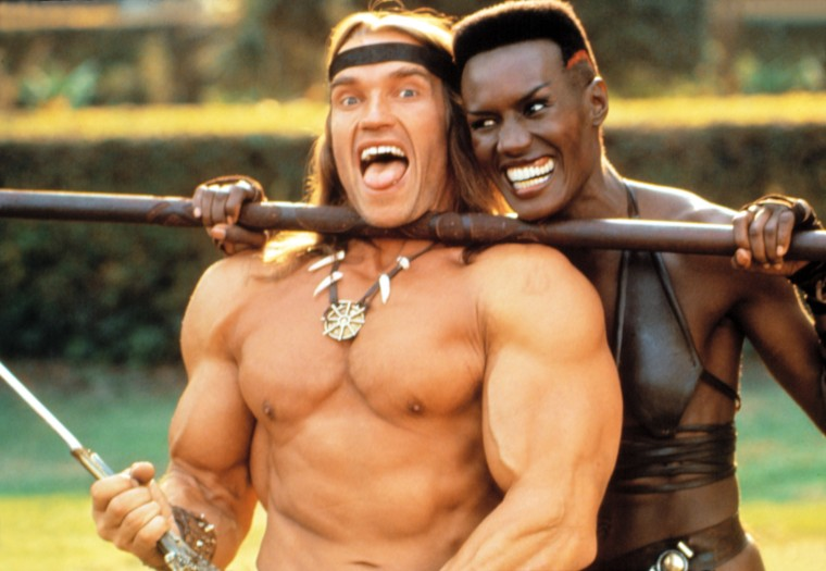 CONAN THE DESTROYER, Arnold Schwarzenegger, Grace Jones, 1984